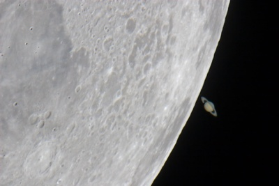 Saturn from the Moon
