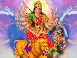 Durga slaying the demon