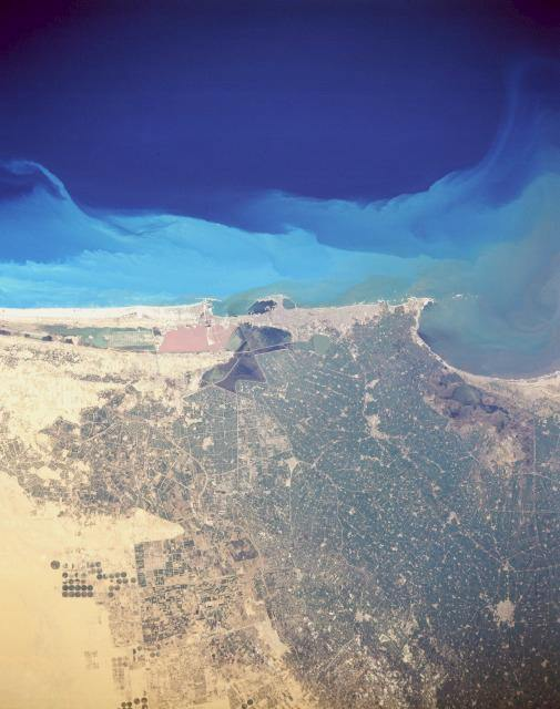 Satellite photo of Alexandria