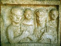 Carving of Roman Family