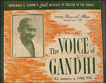 Record Cover, Speech given by Gandhi in New Delhi, 1947, in English, with commentary