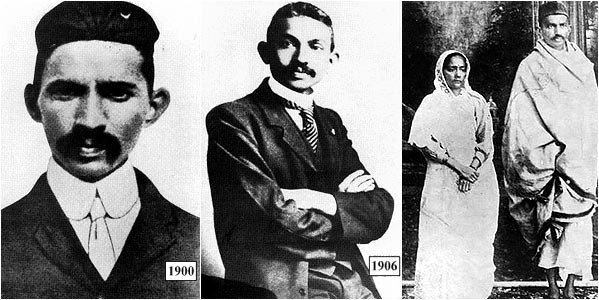 Images of Gandhi as a young man