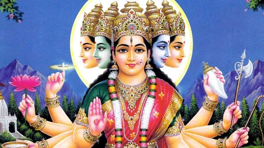 Veda Mata, Deva Mata and Vishwa Mata -  Mother Gayatri