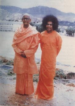 Swami Karunyananda with Sathya Sai Baba