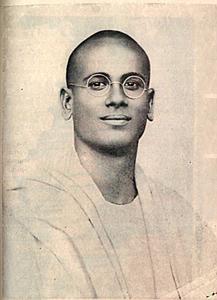 Swami Karunyanada as a young man
