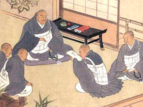 Nichiren with students