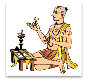 Tulsidas scribing the Ramayana