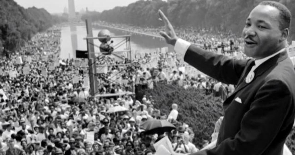 Martin Luther King at Lincoln Memorial