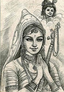 Mirabai, devotee of Lord Krishna