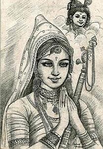 Mirabai, devotee of Lord Krishna