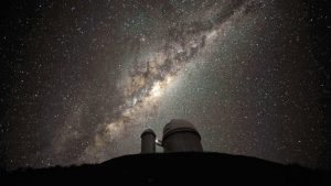 looking at the galactic centre of the Milky Way