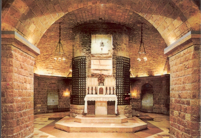 small chapel at the site of the tomb of St Francis, rediscovered in 1818; Lower Basilica, Assisi