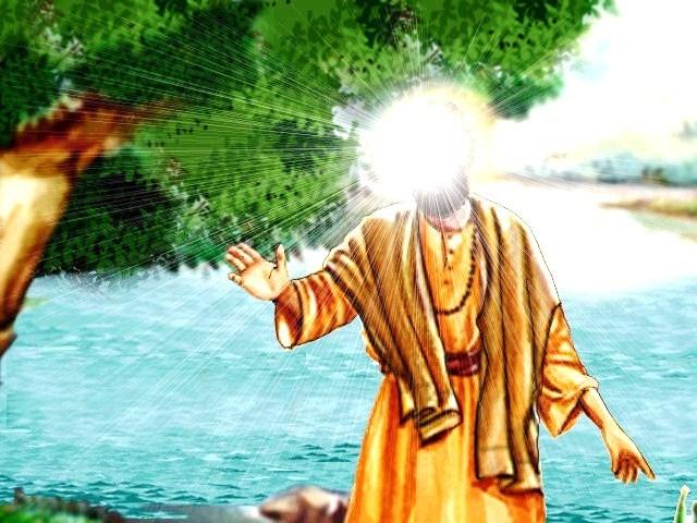 Guru Nanak's emergence from the river