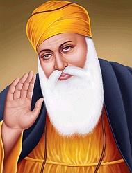 Guru Nanak giving blessing