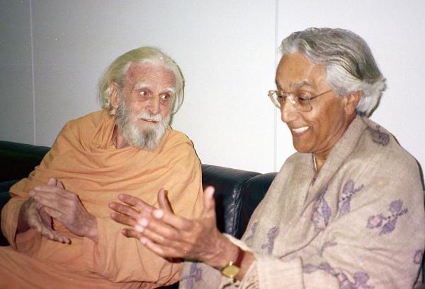 Fr Bede Griffiths with Fr. Raimon Panikkar