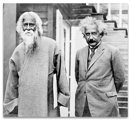 Bengali Poet Rabindranath Tagore with Albert Einstein