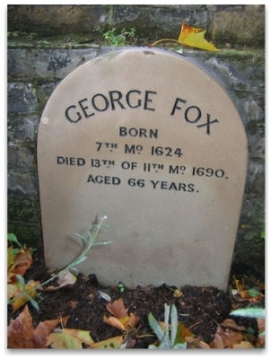 Tombstone of George Fox