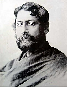 Rabindranath Tagore as a young man