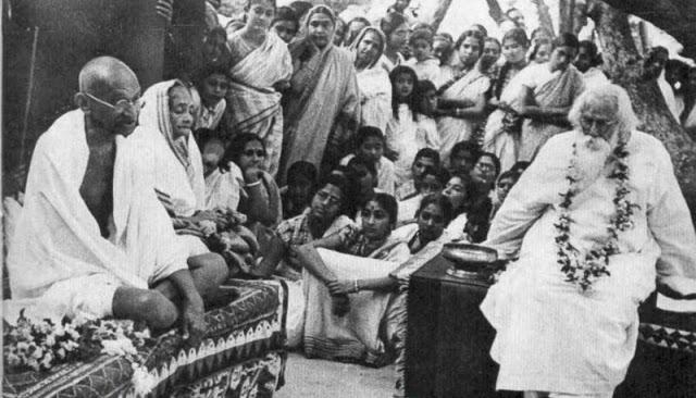 Bengali Poet Rabindranath Tagore with Mahatma Gandhi