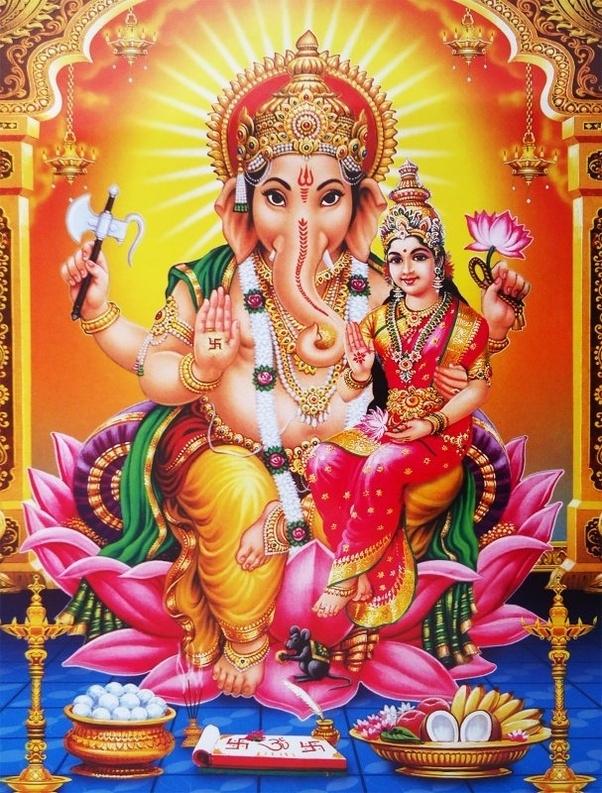 Goddess Lakshmi and Ganesh