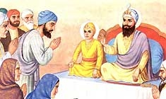 Guru Tegh Bahadur with his father