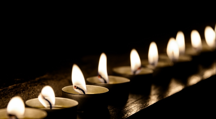 line of candles