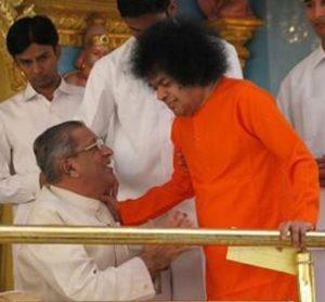 Sathya sai with Anil Kumar