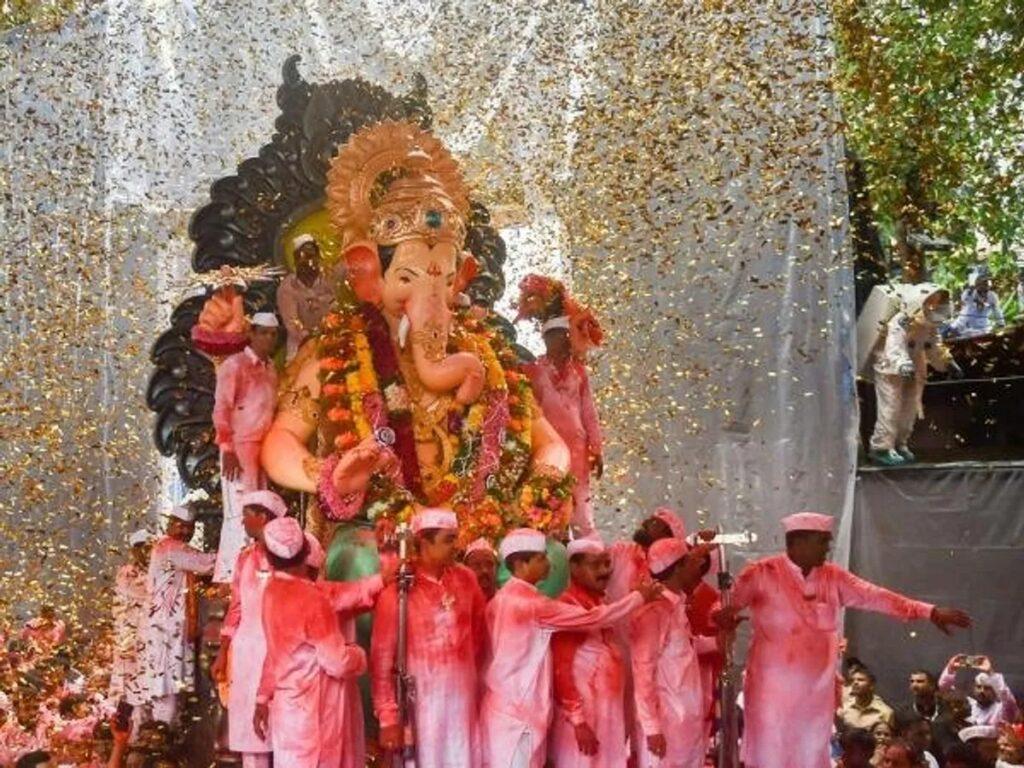 Ganesh Idol being carried