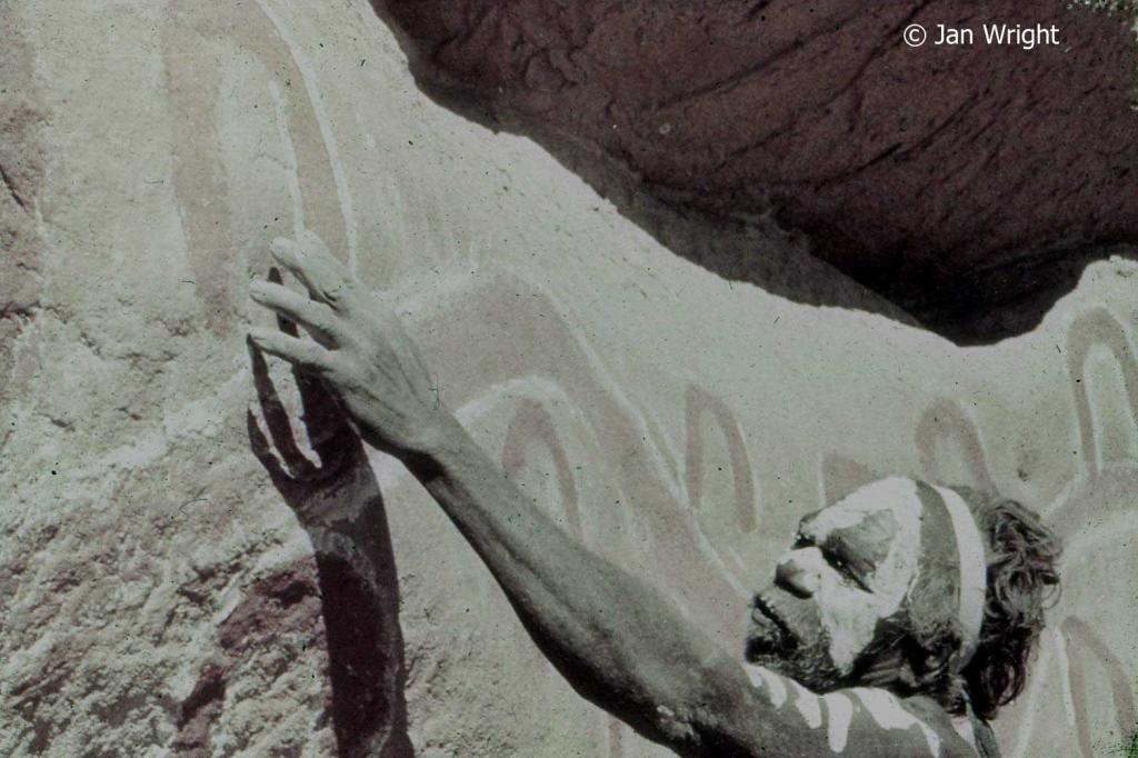 Rock art at Uluru