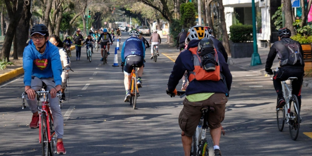 bicycle riders in Mexico