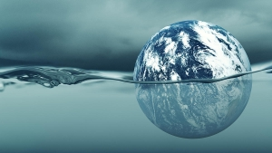 Earth and rising water levels