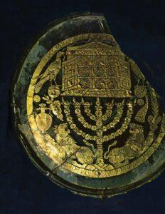 Shield depicting Menorah of Judaism