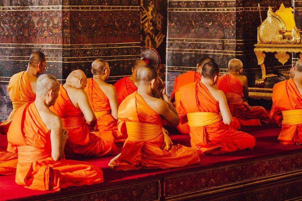 Buddhist Monks at Prayer